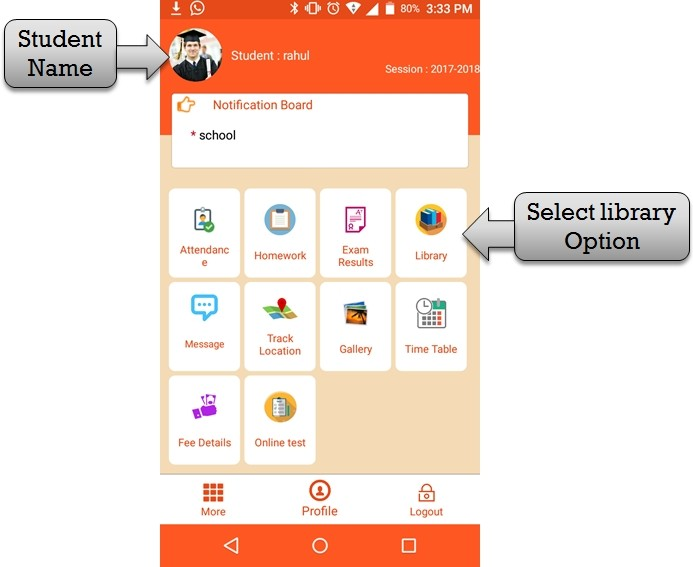 select library option